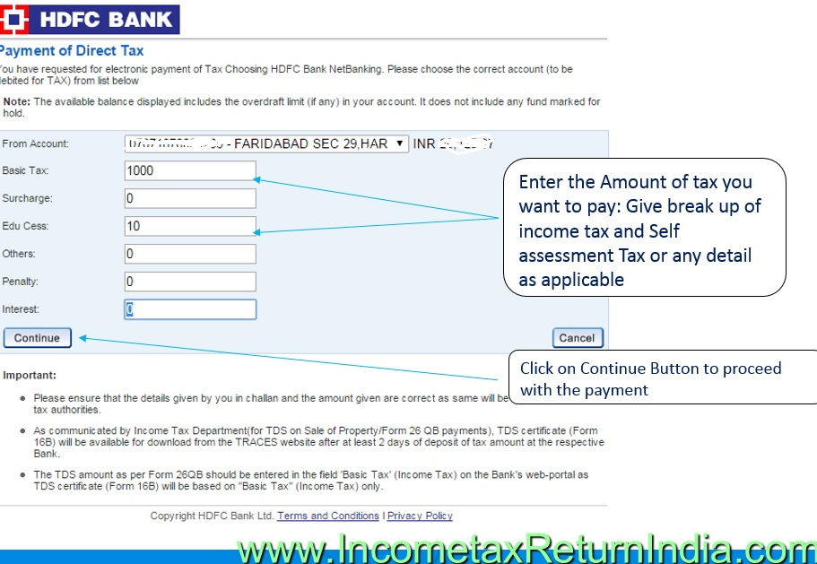 How to Deposit Self Assessment Tax